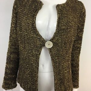 CHICOS Knit Cardigan One Button Sweater